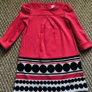 Gymboree salmon color ponte dress